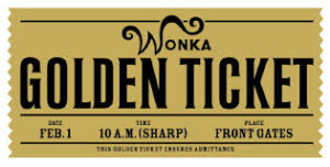 Wonka golden ticket